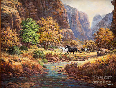 Running With The Wind Art Print by W  Scott Fenton