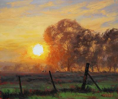 Painting - Rural Sunrise by Graham Gercken