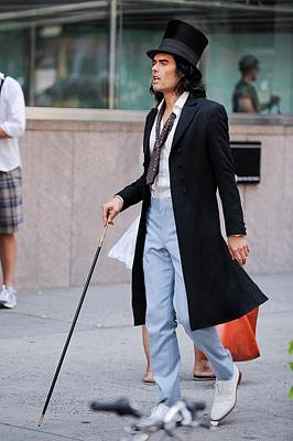 Celebrity Candids - Monday Photograph - Russell Brand, Films A Scene by Everett