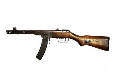 Russian Ppsh-41 Submachine Gun Art Print by Andrew Chittock