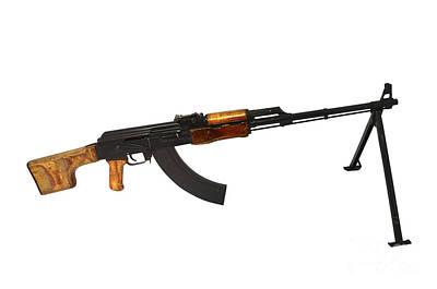 Russian Rpk 7.62mm Light Machine Gun Art Print by Andrew Chittock