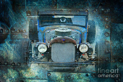 Gold Ford Photograph - Rusted Classic by Perry Webster