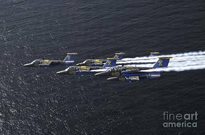 Photograph - Saab 105 Jet Trainers Of The Swedish by Daniel Karlsson