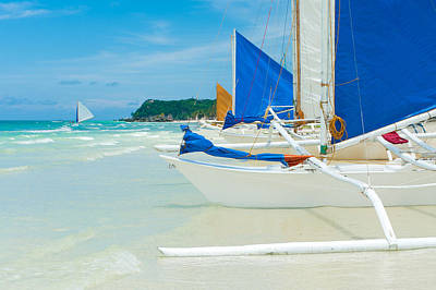 Art Print featuring the photograph Sailing Boats by Hans Engbers