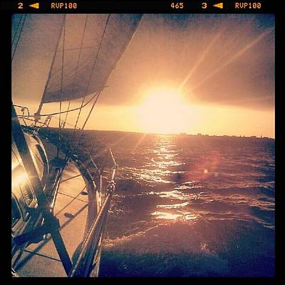 Transportation Photograph - Sailing Sunset by Dustin K Ryan