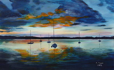 Painting - Sailors' Delight by Alan Mager