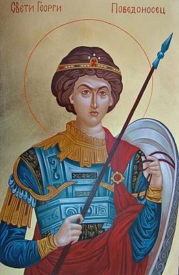 Handmade Icon Painting - Saint George by Janeta Todorova