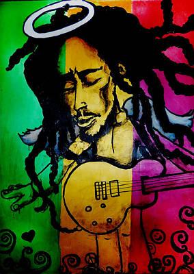 Saint Marley Art Print by Asa Charles