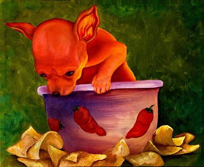 Salsa Chihuahua Art Print by Gail Mcfarland