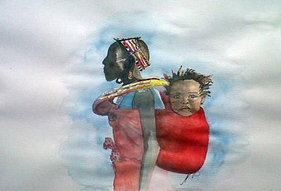Samburu Tribe IIi. Art Print by Paula Steffensen
