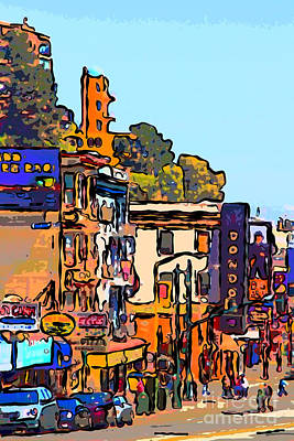 Condor Digital Art - San Francisco Broadway by Wingsdomain Art and Photography