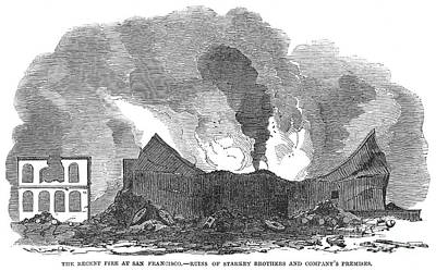 San Francisco: Fire, 1851 Print by Granger