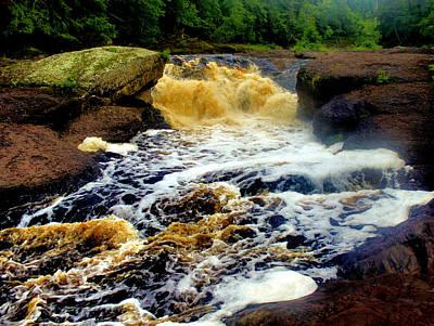 Photograph - Sandstone Falls by Matthew Winn