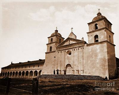 Photograph - Santa Barbara Mission by Pg Reproductions