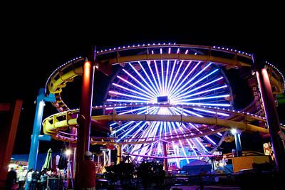 Carnival Photograph - Santa Monica Pier Ferris Wheel by Heidi Reyher