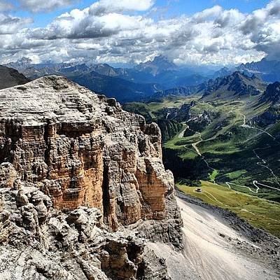 Mountain Wall Art - Photograph - Sass Pordoi by Luisa Azzolini