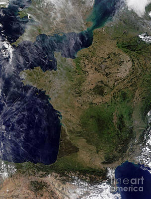 Ps I Love You - Satellite View Of France by Stocktrek Images