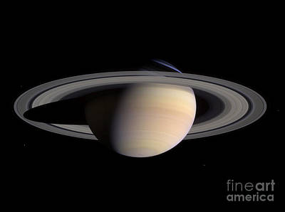 Photograph - Saturn by Stocktrek Images