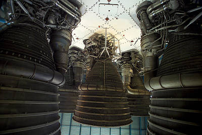 John F Kennedy Space Center Photograph - Saturn V Rocket Main by Raul Touzon