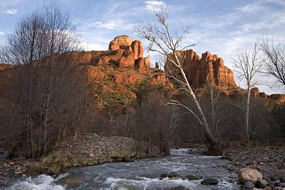 Cathedral Rock Photograph - Scenic View Of Red Rock Crossing by Charles Kogod