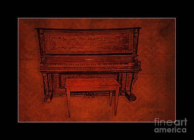 Oregon Illinois Photograph - Schiller Upright Grand Piano Oregon Ill by Anne Kitzman