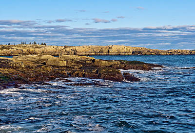 Photograph - Schoodic Point Acadia National Park by Glenn Gordon