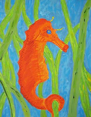 Seahorse Art Print by Yshua The Painter