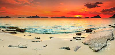 Seascape Panorama Art Print by MotHaiBaPhoto Prints