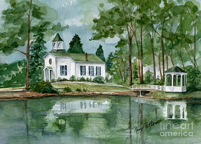 Painting - Seaville Church  by Nancy Patterson