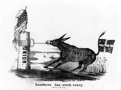 Secession Cartoon, 1861 Art Print by Granger