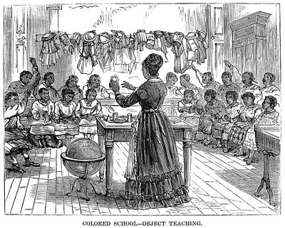 Segregated School, 1870 Art Print by Granger