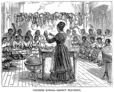 Segregated School, 1870 Art Print
