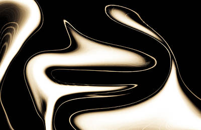 Thomas Kinkade - Sepia Steel Abstract by David Pyatt