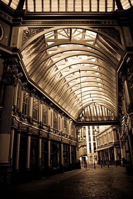 Sepia Toned Image Of Leadenhall Market London Art Print