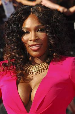Statement Necklace Photograph - Serena Williams At Arrivals For The by Everett