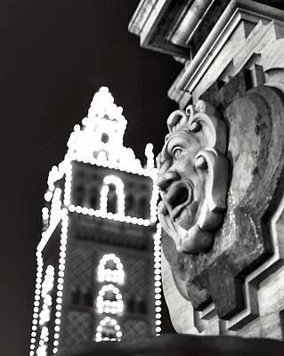 35 Mm Film Photograph - Seville Light Fountain by Laurie Douglas