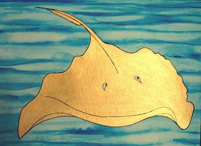 Painting - Seymore The Stingray by Erika Swartzkopf