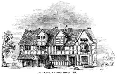 Stratford Photograph - Shakespeare: House by Granger