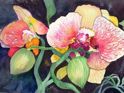 Art Print featuring the painting Shangri La by AnnE Dentler