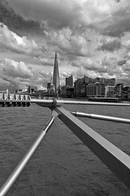Photograph - Shard From Millennium Bridge by Gary Eason