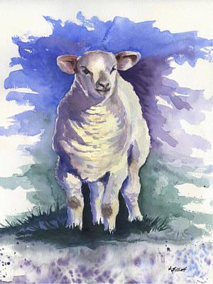 Sheep Wall Art - Painting - Shellies Lamb by Marsha Elliott