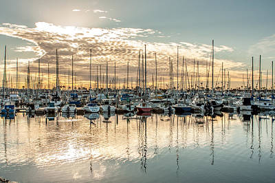 Up201209 Photograph - Shelter Island Marina Sunrise by Josh Whalen