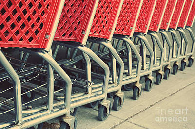 Repeat Photograph - Shopping Carts by HD Connelly
