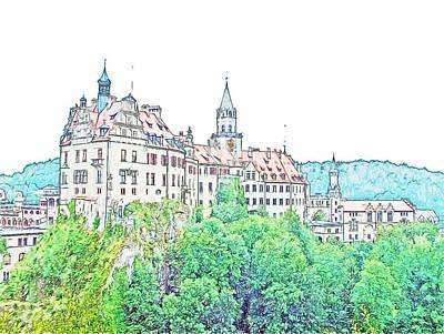 Sigmaringen Palace Germany Print by Joseph Hendrix