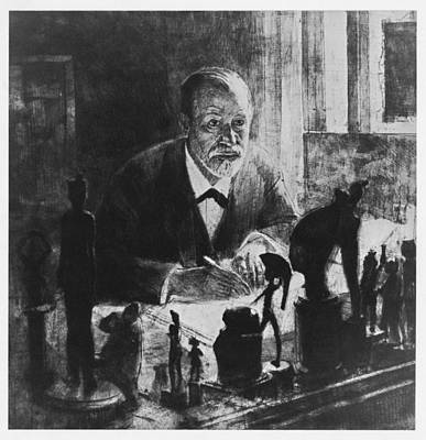 Statue Portrait Photograph - Sigmund Freud, Austrian Psychologist by Humanities & Social Sciences Librarynew York Public Library