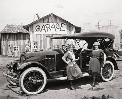 Photograph - Silent Film: Automobiles by Granger