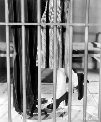 Silent Film Still: Legs Print by Granger