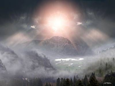 Sun Rays Digital Art - Silent Night by Bill Stephens