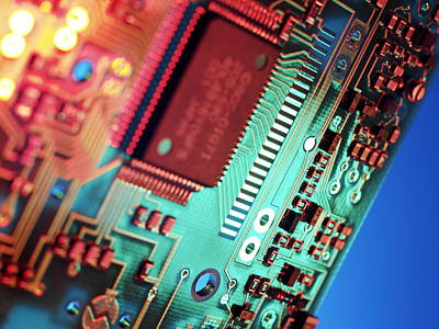 Integrated Photograph - Silicon Chip by Tek Image