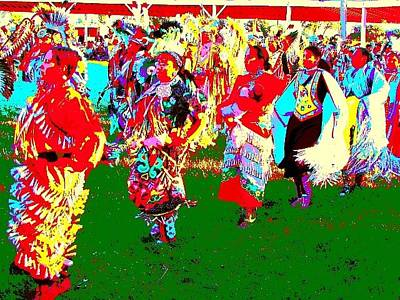 Mixed Media - Sioux Valley Dakota Nation Pow Wow by Bruce Ritchie